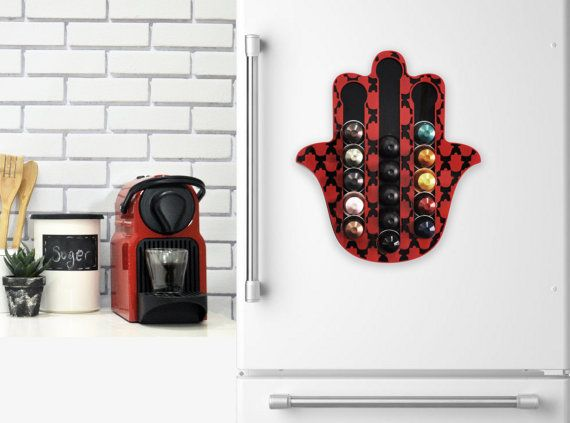 Home Decor Hamsa Capsules Coffee Holder Holds 20 Nespresso Pods Storage  Magneticu2026