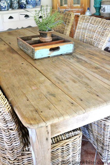 via Paint Me White Love the table