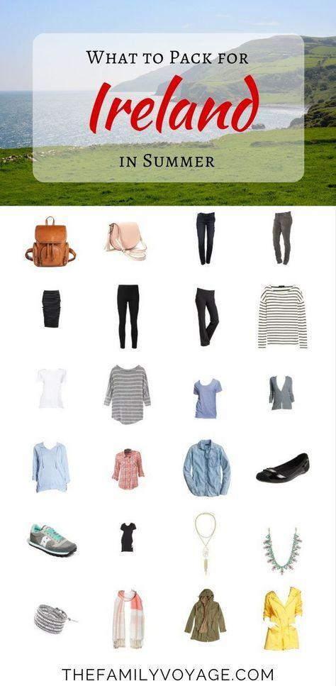 Summer Travel Capsule Wardrobe: What to Pack for Ireland in June #travelwardrobesummer