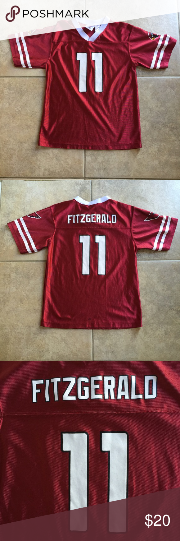 7f257e4d3 ... switzerland larry fitzgerald arizona cardinals youth jersey mint  condition. size youth kids large 14 16