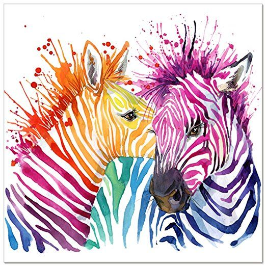 Animal canvas wall artmodern living room wall decalscolorful zebra animal canvas wall artmodern living room wall decalscolorful zebra artwork prints for altavistaventures Images