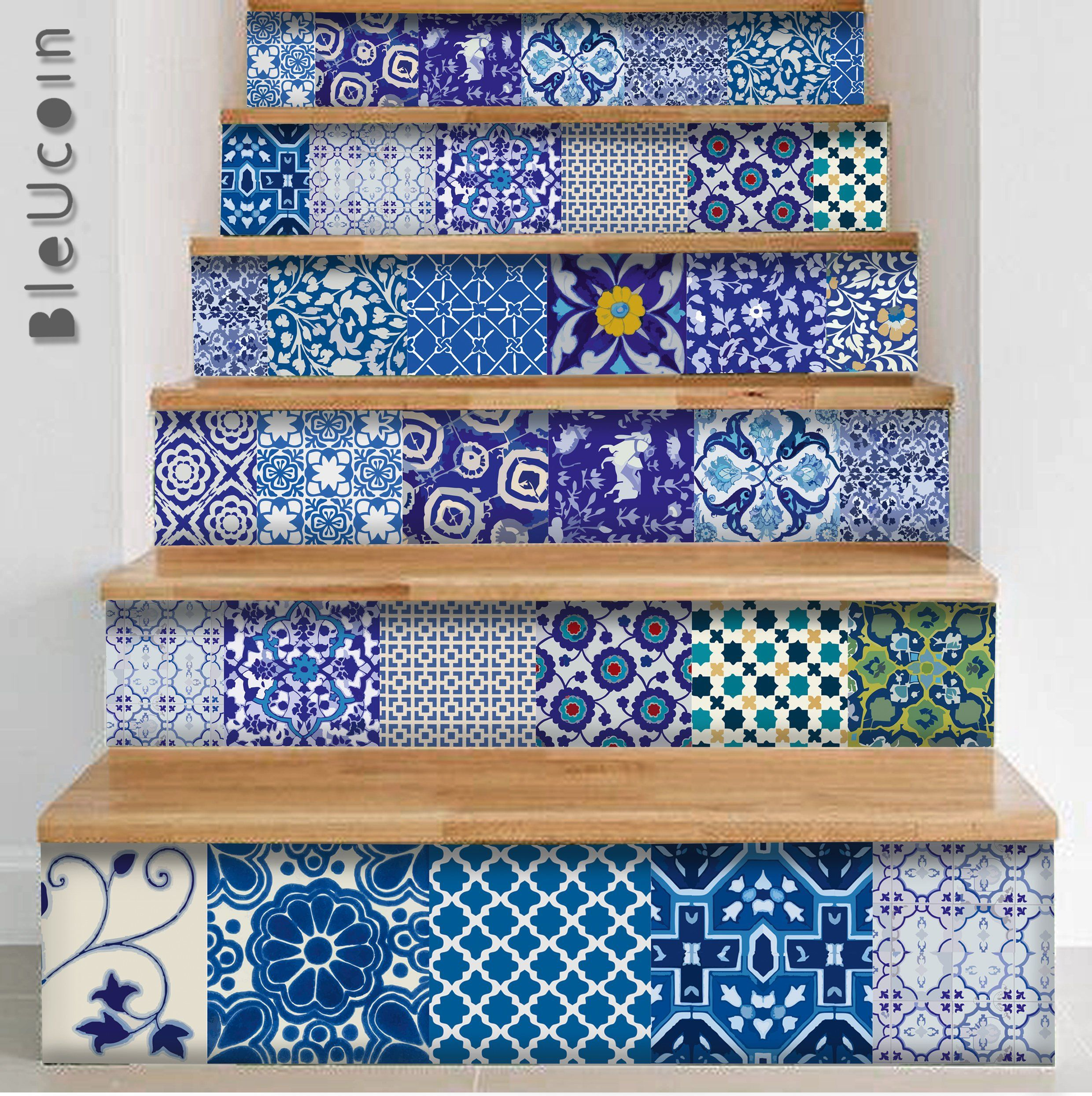 Exterior Wall Tiles Designs Indian Houses Single Floor: Kitchen/Bathroom Indian Jaipur Blue Pottery Tile/ Wall