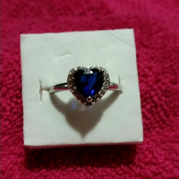 925 Sterling silver Sapphire Heart Ring 925 Sterling silver Sapphire Heart Ring Jewelry Rings