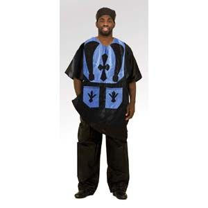 Men's Black & Blue Brocade Pant Set $39.95 Be a sight in midnight blue and black authentic brocade. BB-161