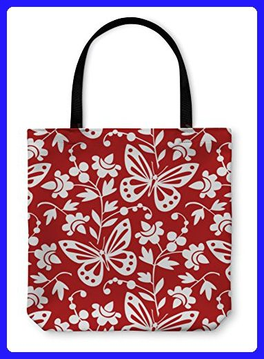 Gear New Tote Bag Shoulder Hand Butterflies And Flowers Wallpaper