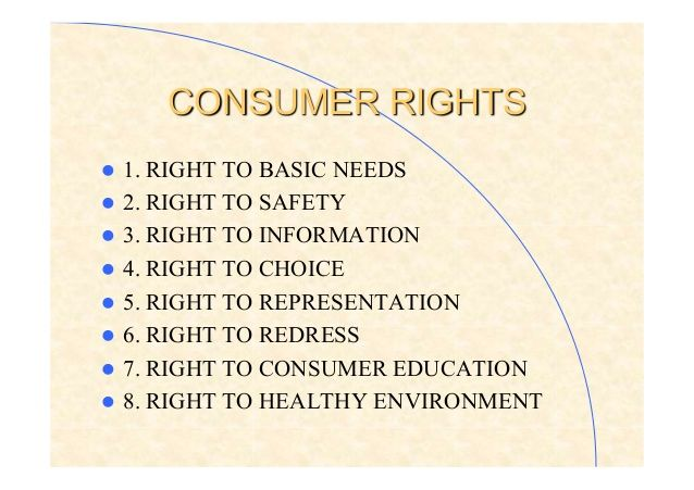 Consumer Rights L 1 Right To Basic Needs L 2 Right To Safety L 3 Right Consumer Protection Consumers Economics Project