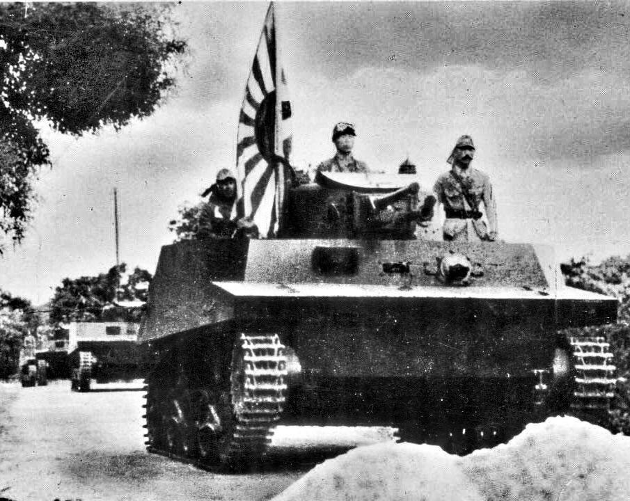 Japanese Navy Ka-Mi amphibious Tanks in Saipan Island 1944