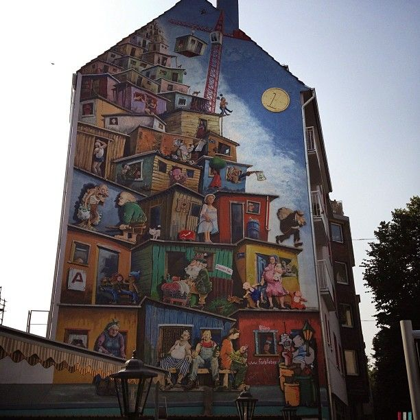 D sseldorf germany street art mural wall building for Creative mural art