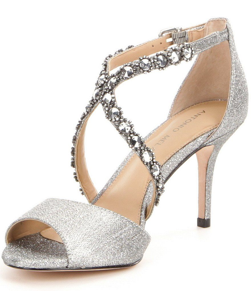0466c035f8ff6 Galaxy Antonio Melani Jamme Rhinestone Embellished Dress Sandals