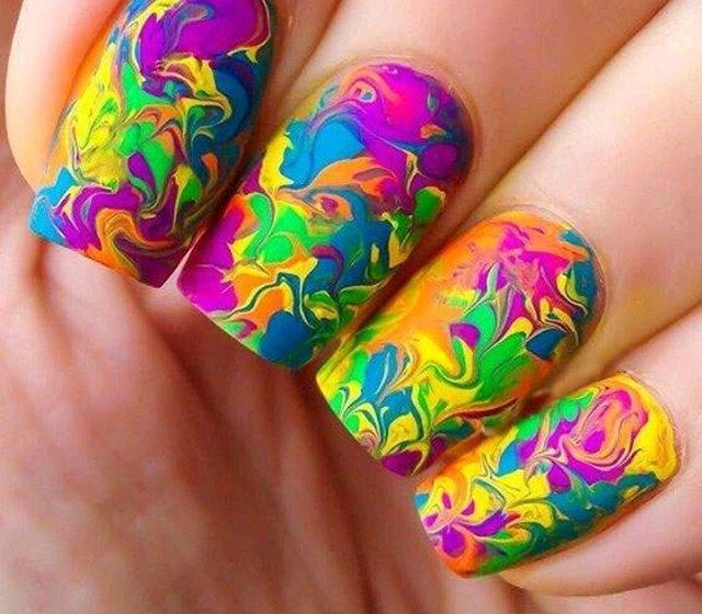 Instagram post by Jharonka • Jun 18, 2016 at 7:10am UTC. Nail IdeasMarble  Nail DesignsRainbow Nail Art DesignsColorful ... - Love Nail Art? Try Out These Colorful Marble Nail Art And Make Your