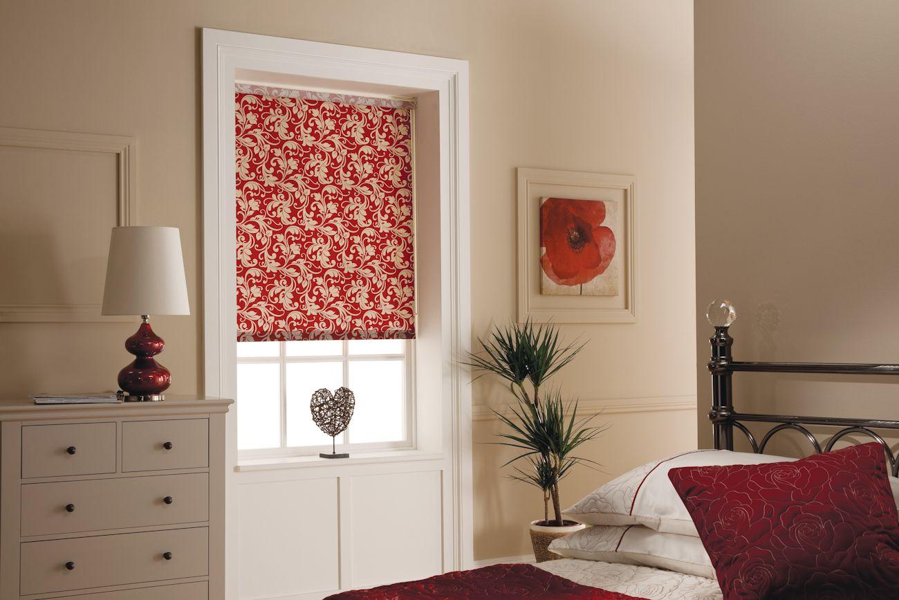 Windsor burgundy a timeless rich design roller blinds solas