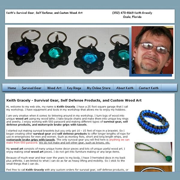 A new website has been submitted to Profit-List.com: Category: Other  Products & Services, Website / Blog Name: Survival Gear - Self Defense -  Wood Art, ...