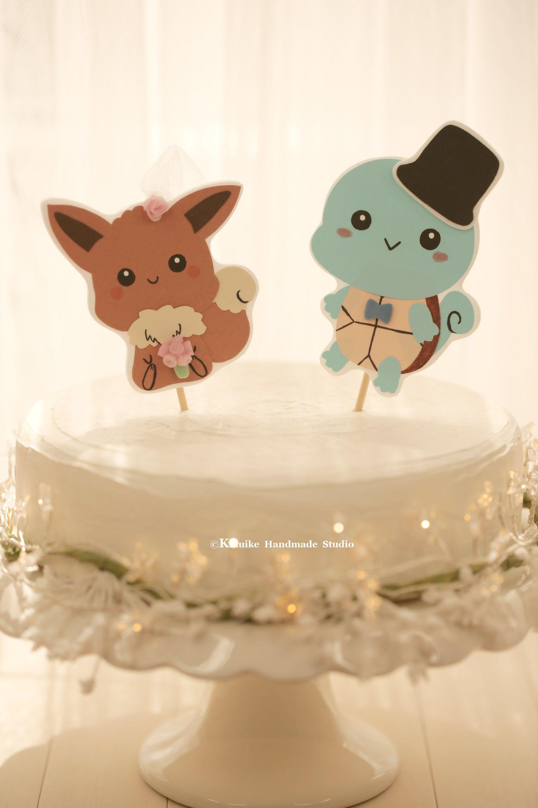 Handmade pokemon wedding cake topperpocket monster wedding cake