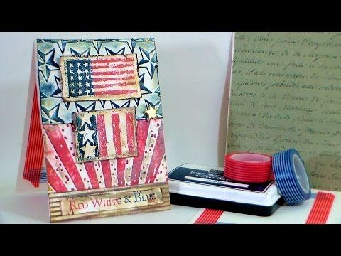 How To Dry-Emboss //STAMP SCHOOL// USA Card! - YouTube