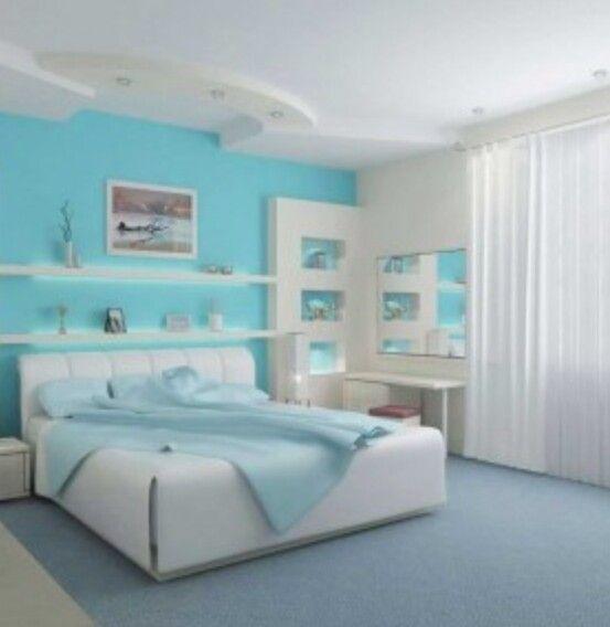 Sky Blue White Bedroom Kamar Tidur Modern Kamar Tidur Remaja