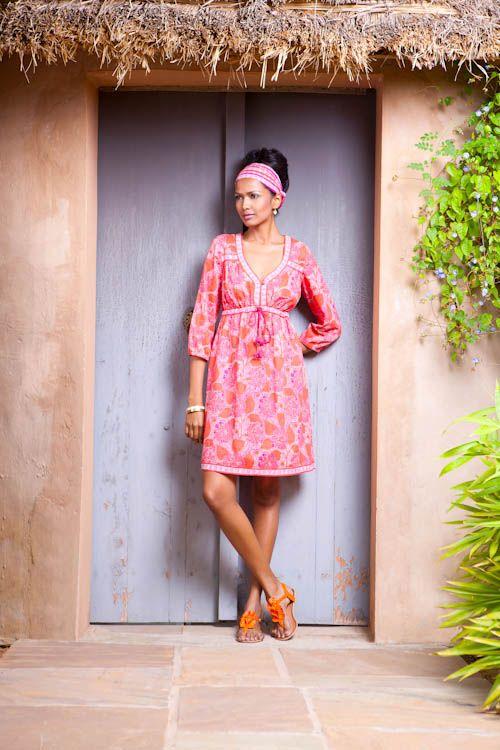 82ecf6fe5e2f pink indian print dress - tunic