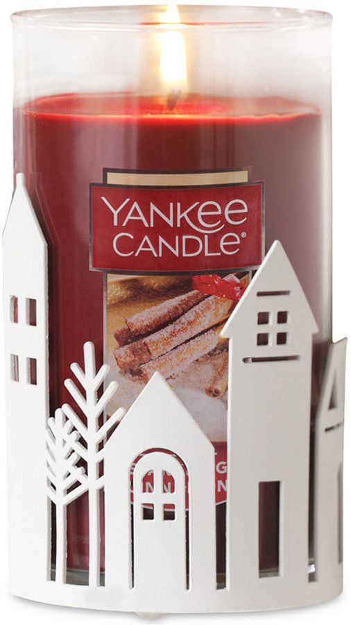 Yankee Candle Winter Village Pillar 2 Pc Gift Set Christmas