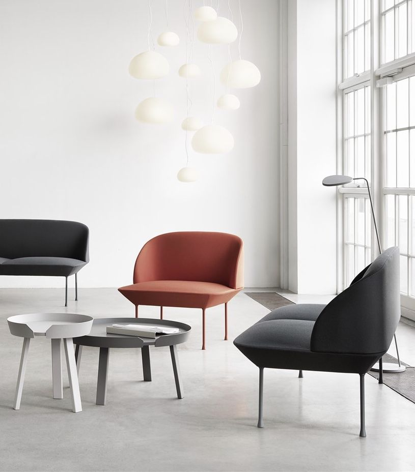 A Minimal And Grey Scandinavian Styled Living Room Starring Muuto Around Coffee Table And Oslo Chair And Sofa Muuto Newpers Furniture Interior Coffee Table