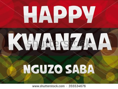 Traditional colorful kwanzaa flag with greeting message about the traditional colorful kwanzaa flag with greeting message about the nguzo saba or seven principles of kwanzaa vector illustration m4hsunfo