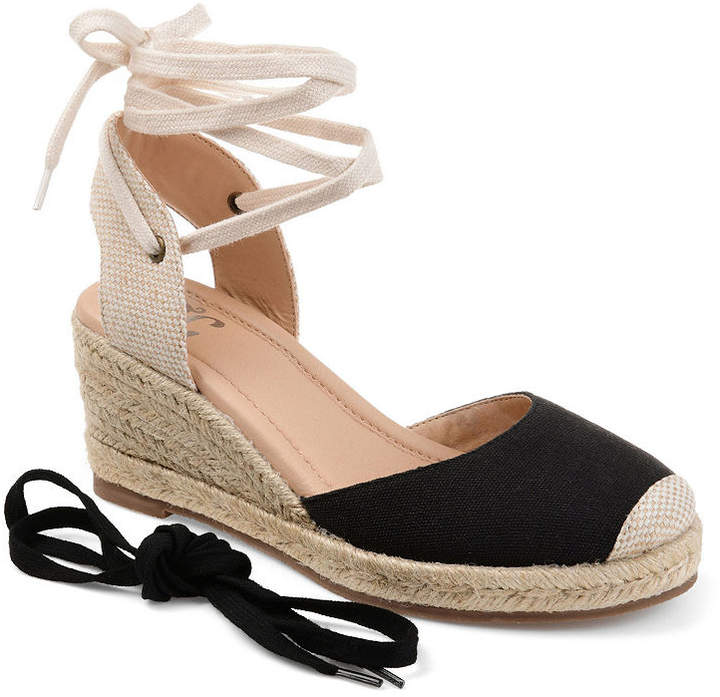ce9dad2ad55 Journee Collection Womens Monte Lace-up Round Toe Espadrille Wedge ...