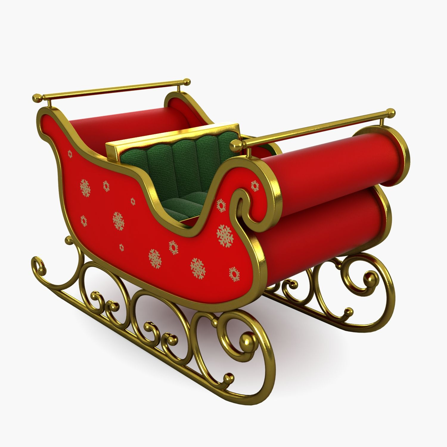 3d Model Sleigh Flying Magic Reindeer Santa Deer Sled Vehicle Snow Christmas Xmas Cartoon C Christmas Sleigh Christmas Sled Miniature Christmas