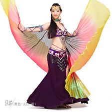 9d2f387c9 Egyptian Shiny Belly Dance Wings Costume Dancing Fancy Isis Wing Cosplay  Costume