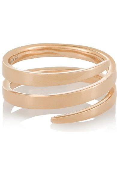 Simple yet stately Rose Gold coil ring by Anita Ko Rose Gold