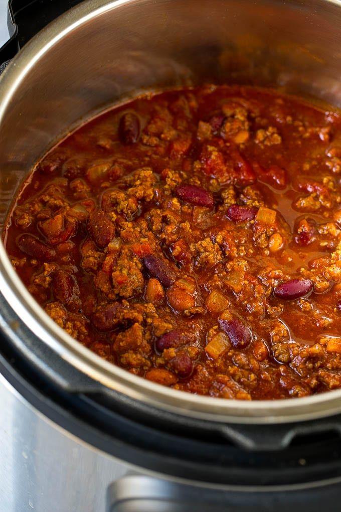 Instant Pot Chili Recipe Pressure Cooker Chili Beef Chili Beef And Bean Chili Chili Instant Pot Dinner Recipes Chili Recipes Ground Beef Chili Recipes