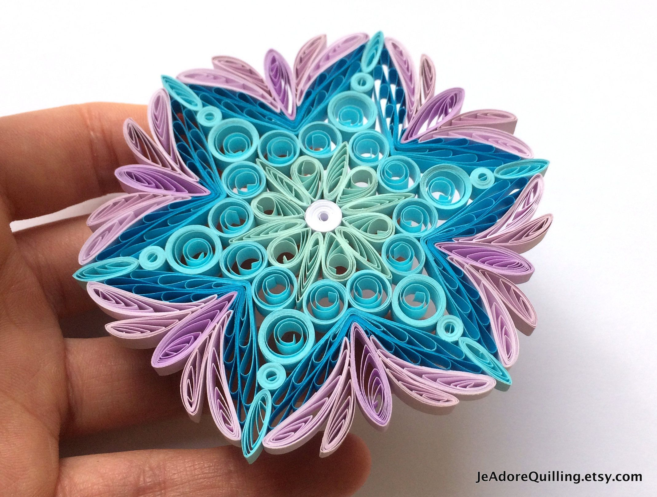 Quilled Snowflakes Paper Quilling Art Christmas Tree Decor Winter