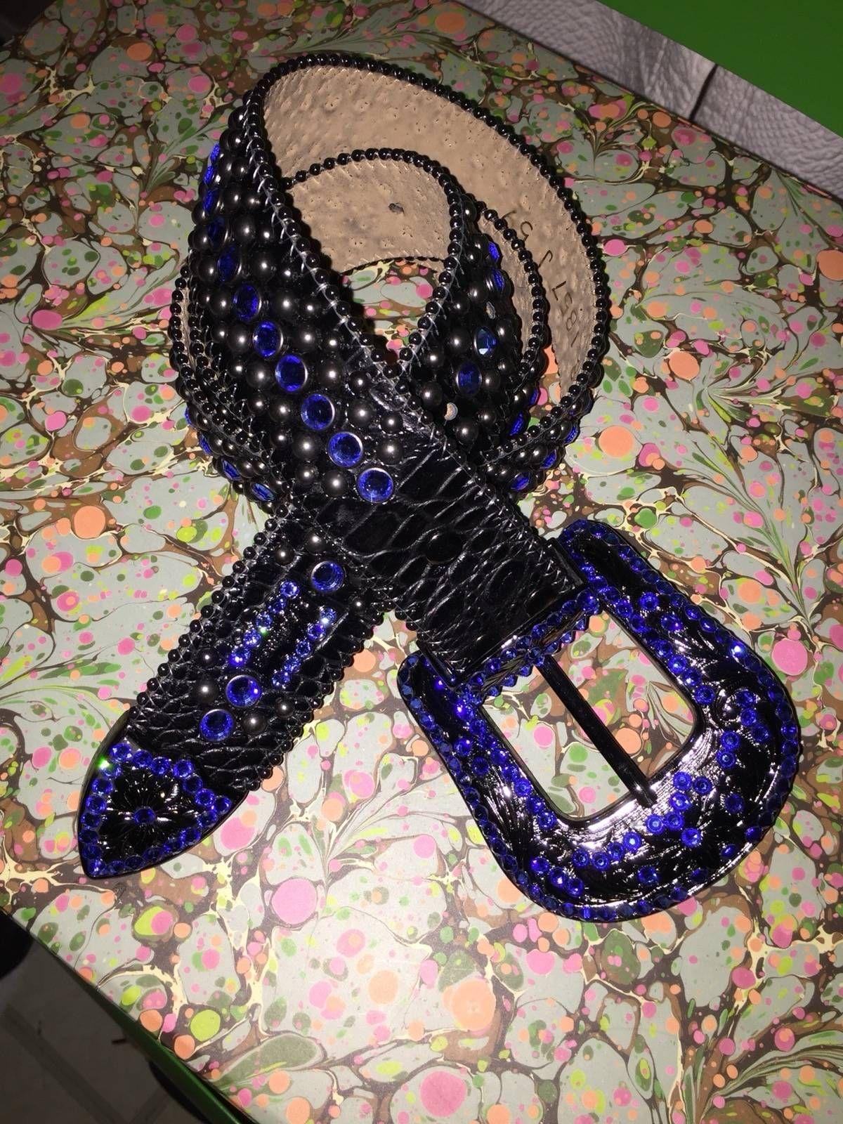 71f02c1444b7 Buy B.B. Simons B.B Simons Swarovski Sapphire Belt 1 1 Custom Belt Size 38  100
