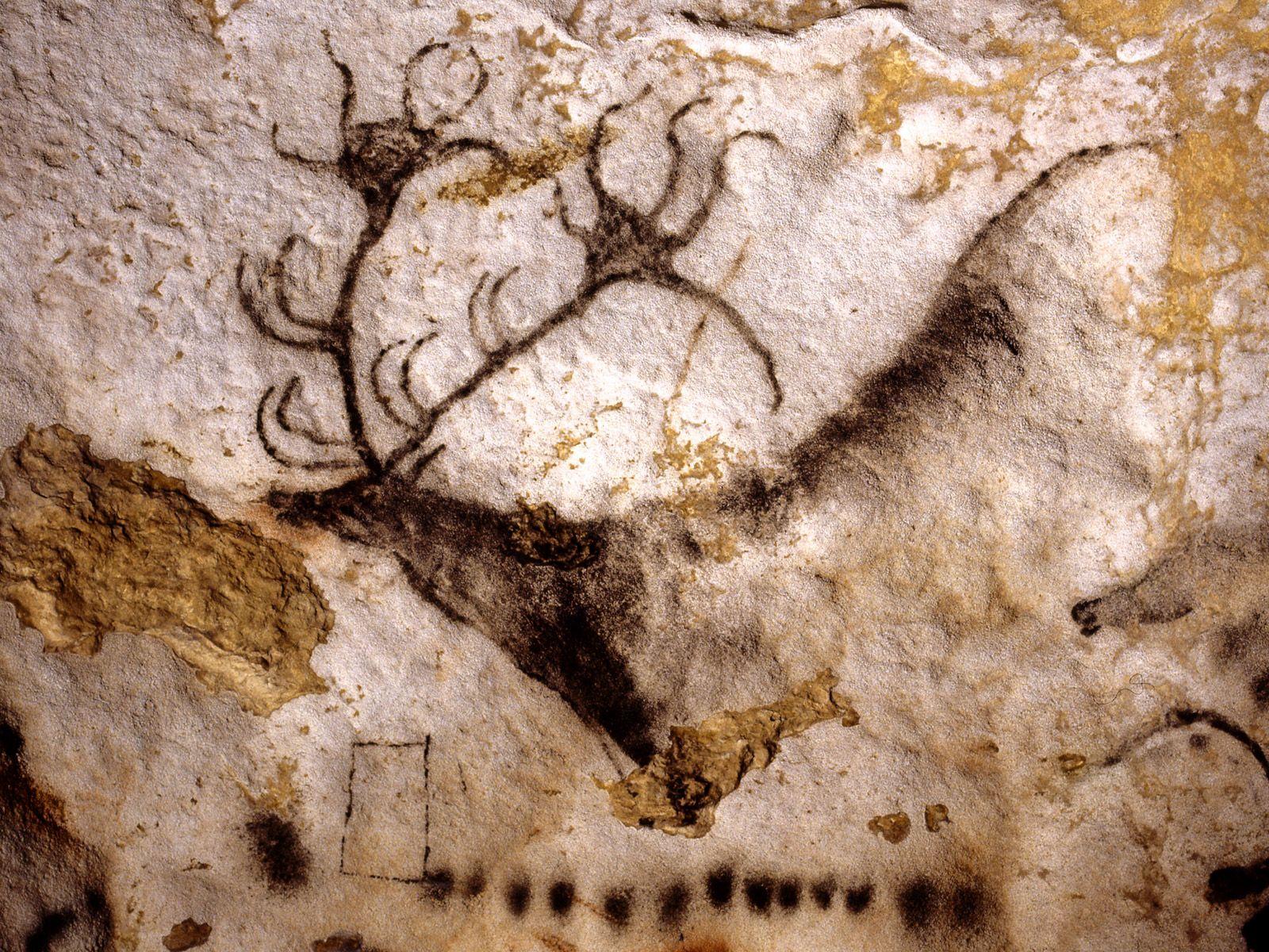 Grotte de Lascaux, le grand cerf noir | Grotte de lascaux ...