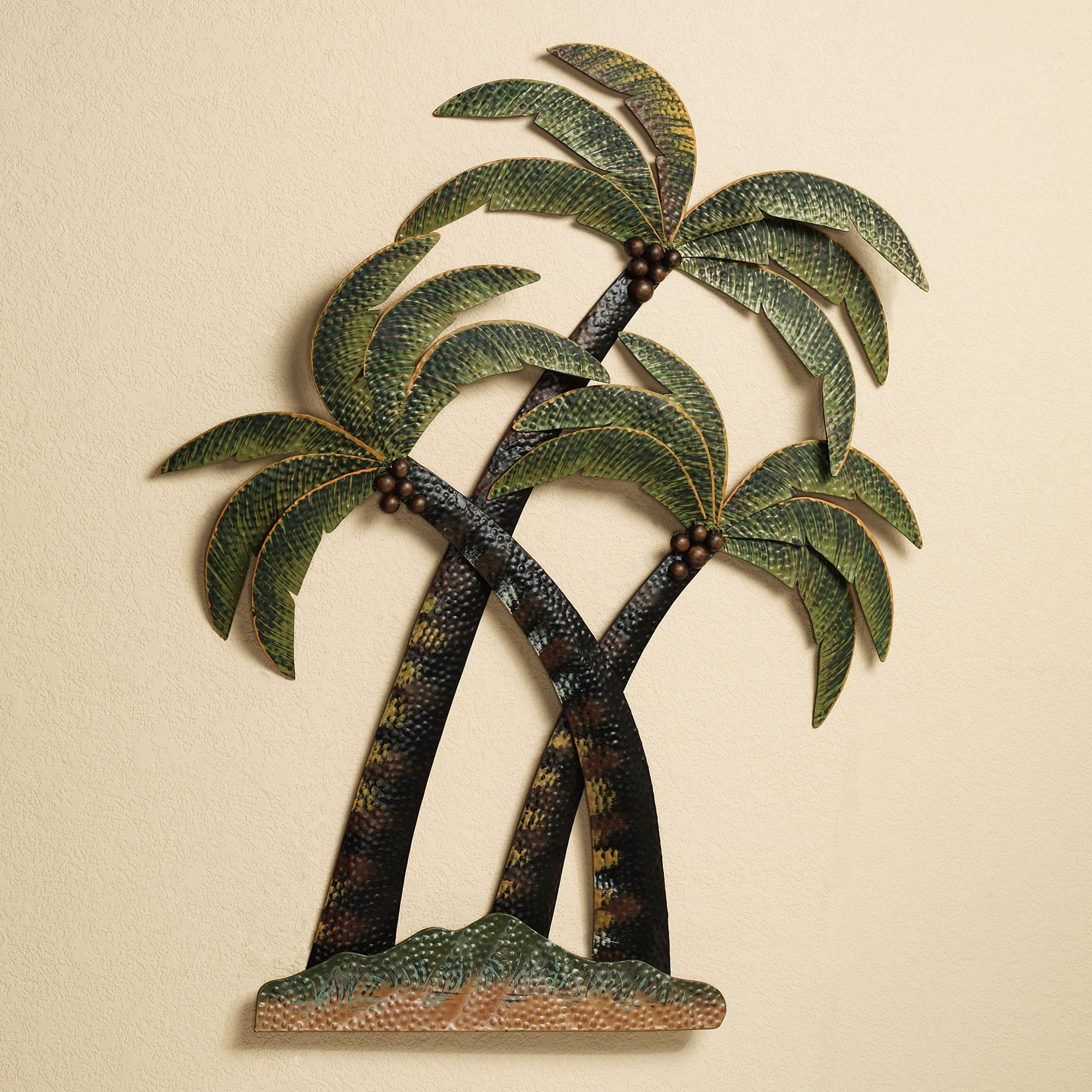 Coco Palm Tree Metal Wall Sculpture Palm Tree Metal Wall Art Palm Tree Wall Art Metal Tree Palm tree metal wall art