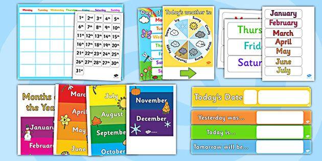 Calendar Display Ideas : Ready made calendar display pack