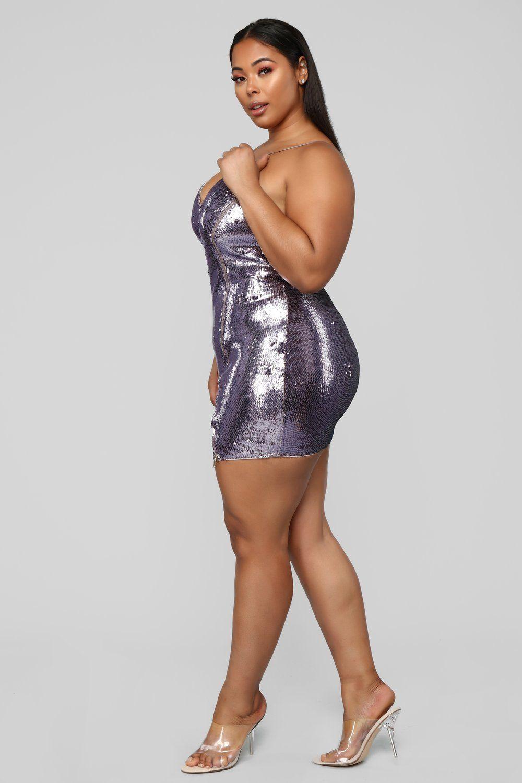 Bounce Back Sequin Dress Purple Sequin dress, Purple
