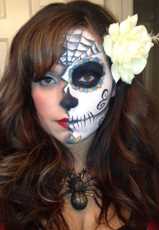 Day of the dead meets pin up Makeup Tutorial | Dead makeup, Makeup ...
