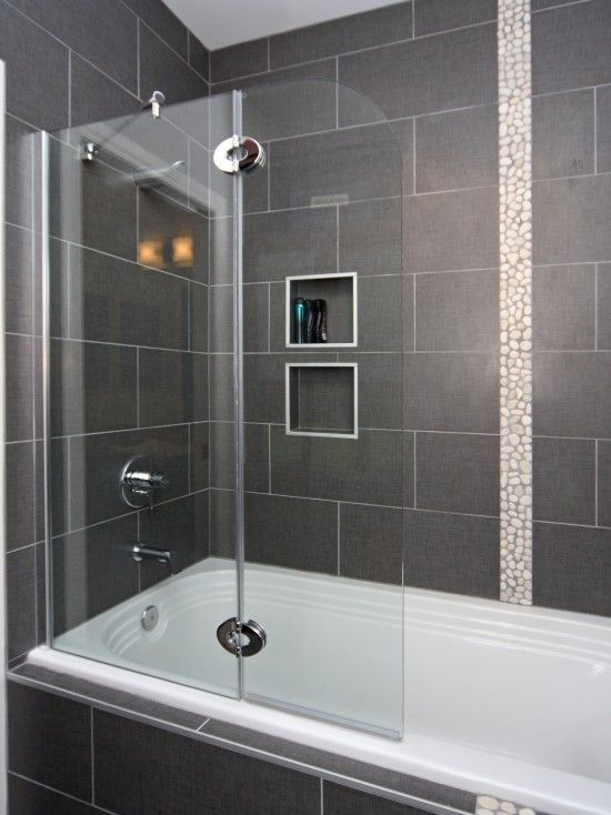 Modern Fresh Clean Bathroom Bathroom Remodel Shower Bathtub Shower Combo Tub Remodel