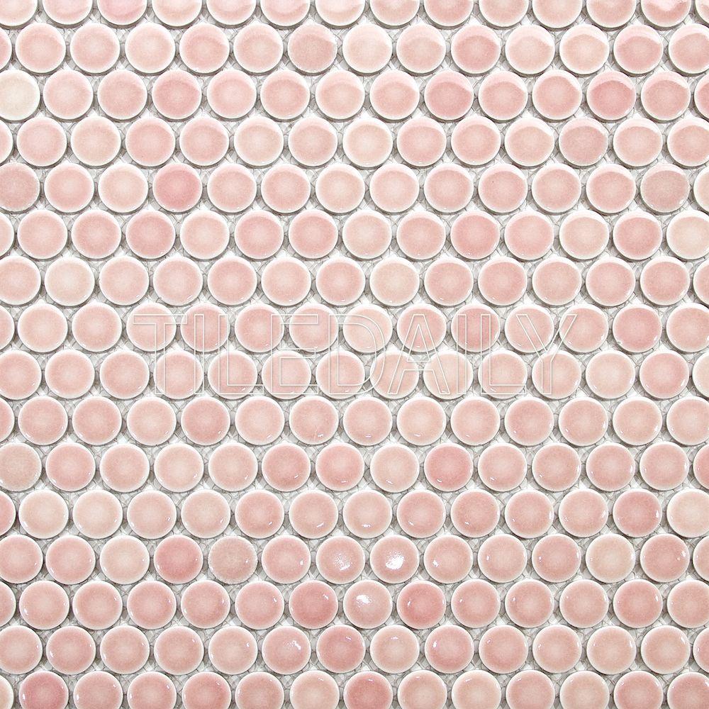 Glossy Penny Round Mosaic Penny Round Mosaic Penny Tile Mosaic Flooring