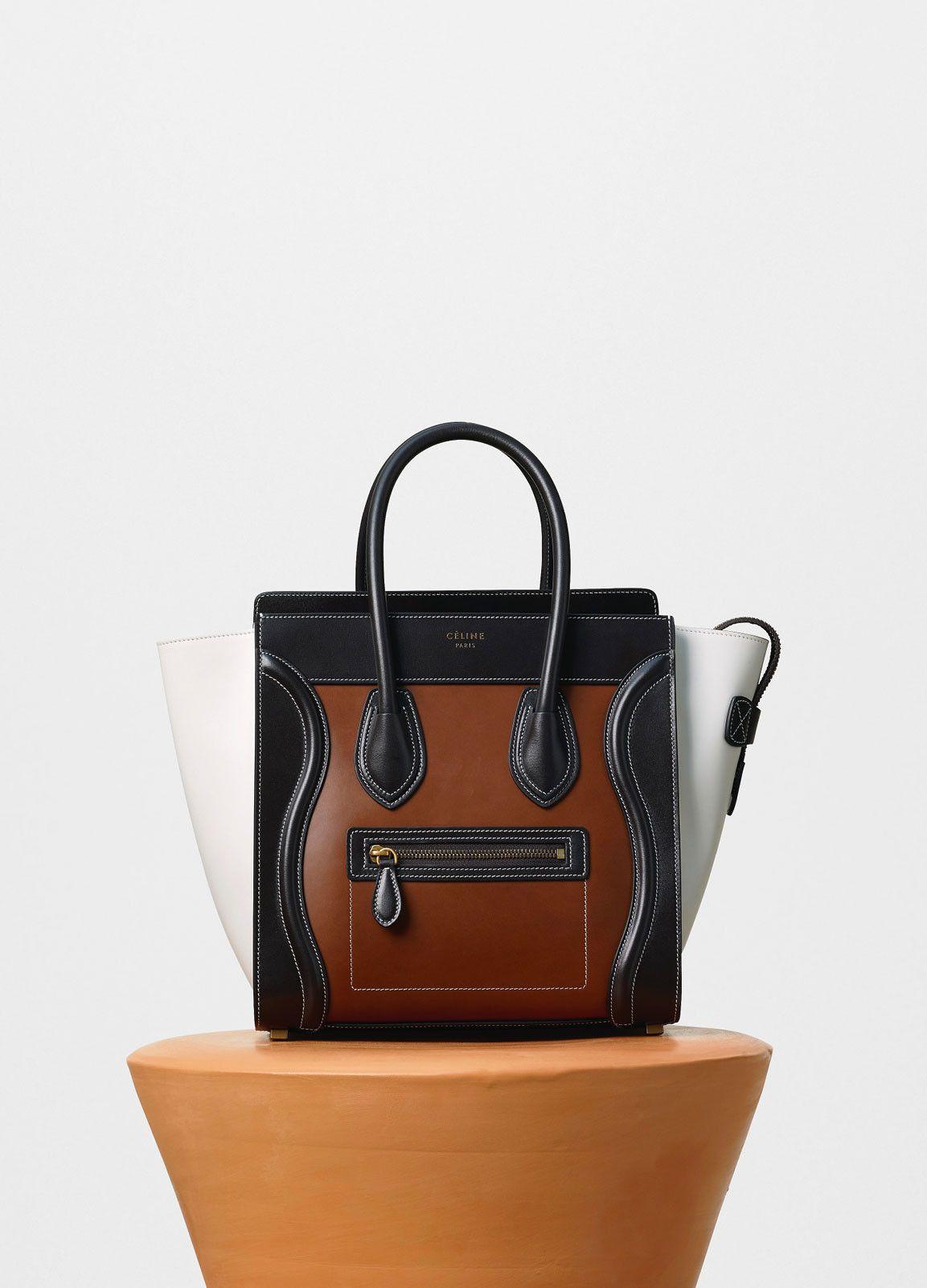cfbf045dc8 Micro Luggage Handbag in Calfskin and Lambskin Lining - Céline ...
