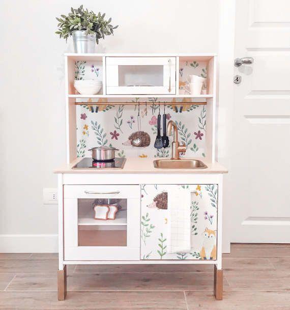decals for duktig ikea hedgehog watercolor sticker set pack of 4 wallpaper furniture decal. Black Bedroom Furniture Sets. Home Design Ideas