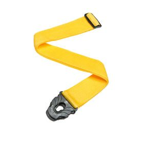 Planet Waves Planet Lock Guitar Strap Polypropylene Yellow Patented Planet Lock System Fits Virtually Any Guitar Leather Guitar Body High Quality Leather