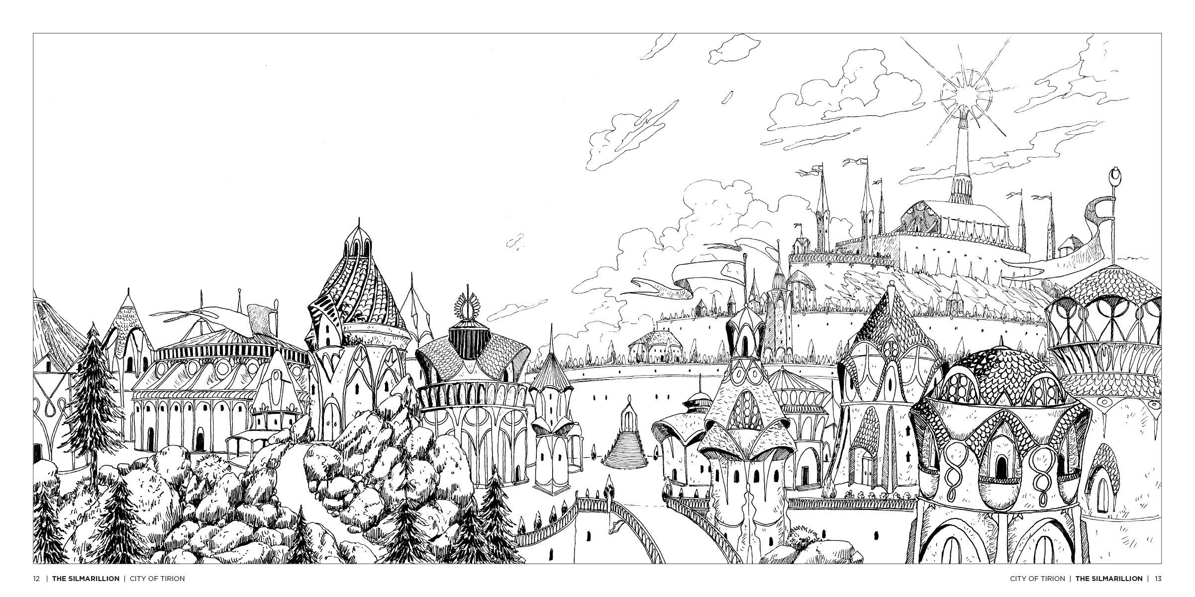 Tolkien\'s World: A Fantasy Coloring Book: Allan Curless, Mauro ...
