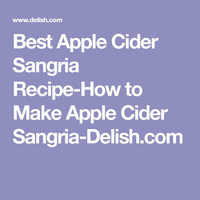 Apple Cider Sangria #applecidersangriarecipe