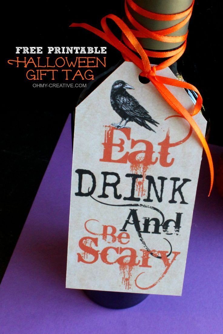 Eat drink and be scary free printable halloween gift tag halloween eat drink and be scary free printable halloween gift tag negle Gallery