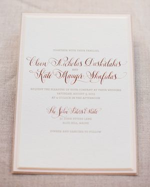 Kate Cleons Romantic Rose Gold Foil Wedding Invitations Rose