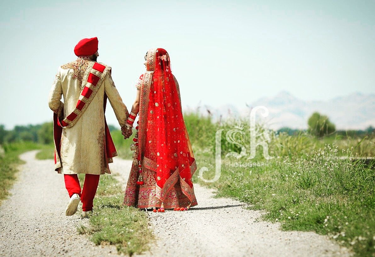 Indian wedding portrait shoot. By JSK Photography