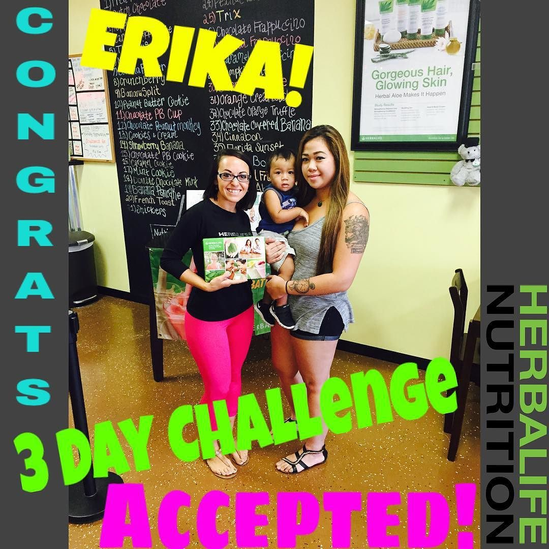 3 Day Challenge Accepted Today I Got The Pleasure Of Meeting Erika And Carson At The Club And Introducing Her To The 1 Nut Health Coach Herbalife Challenges