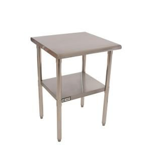 Trinity Stainless Steel Kitchen Utility Table With Adjustable