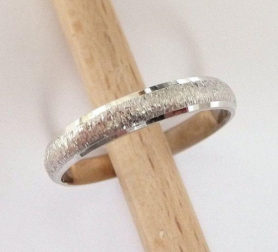 Cheap White Gold Wedding Rings | White Gold Wedding Ring Womens Mens Wedding Band 3mm Wide 14k Gold
