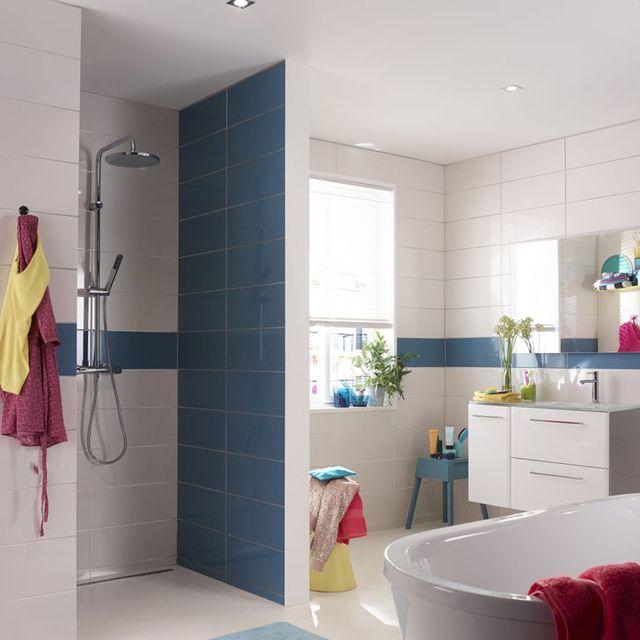 Carrelage mural nabuko bleu nordique 20 x 50 cm castorama salle de bain - Castorama salle de bain carrelage ...