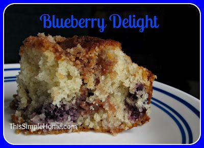 Blueberry Delight Recipe.  This is my go-to fruity recipe...it's been requested for a baby shower and other get-togethers.  Absolutely delicious!